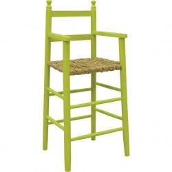 Chaise haute enfant bois anis