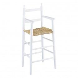 Chaise haute enfant bois laquée blanc