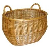 La Vannerie d'Aujourd'hui - Panier à récolte ovale osier buff ou blanc