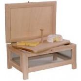 La Vannerie d'Aujourd'hui - Fromager en bois, avec plateau à fromage en hêtre.