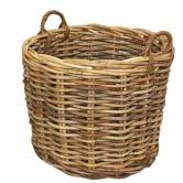 La Vannerie d'Aujourd'hui - Cache pot ou réserve à bois en rotin poelet
