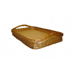Plateau osier buff fond bois 2 modèles