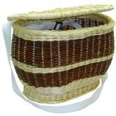 Charmotte ovale couvercle en osier blanc ou osier 2 tons