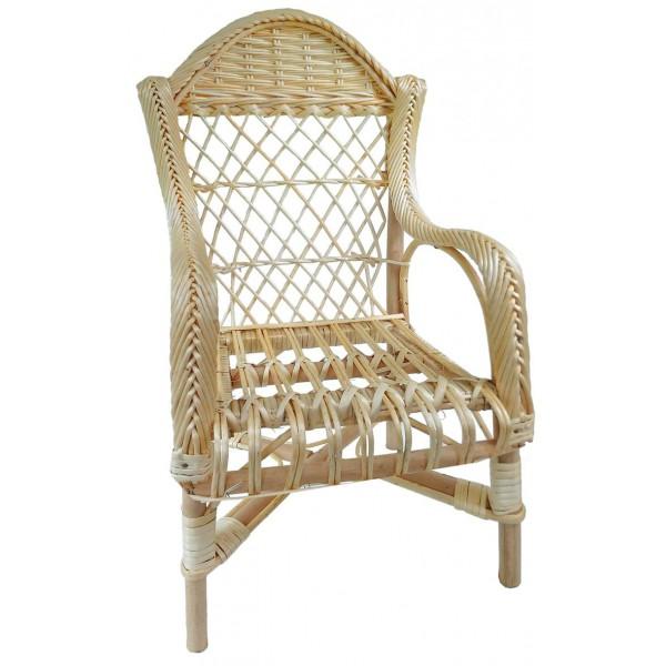 fauteuil enfant gendarme osier blanc la vannerie d 39 aujourd 39 hui. Black Bedroom Furniture Sets. Home Design Ideas