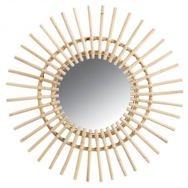 miroir en rotin soleil la vannerie d 39 aujourd 39 hui. Black Bedroom Furniture Sets. Home Design Ideas