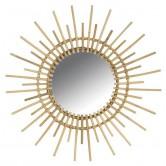 Miroir en rotin soleil GM