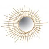 La Vannerie d'Aujourd'hui - Miroir design spirale en rotin naturel