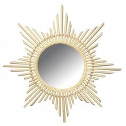Miroir en rotin étoile