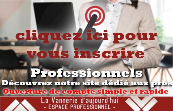 La Vannerie d'Aujourd'hui - Inscription professionnels